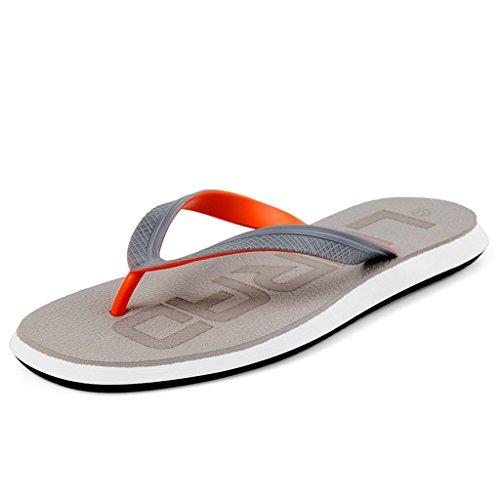 ALUK- Sandales dété - Décontracté Antidérapant Hommes confortables Chaussons résistant à lusure Chaussures de plage ( Couleur : Gris , taille : 42 ) Gris