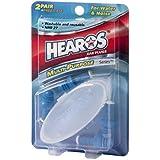 HEAROS Multi-Purpose Reusable Silicone Ear Plugs 2 Pair Free Case