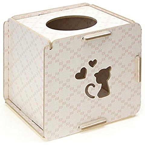 YUENLONG Creative quadrato in legno casella volume disegno carta ammettere cartuccia , colore del toner.
