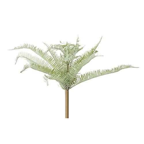 Preisvergleich Produktbild Kuizhiren1 Künstliche Blumen,  1 Stück,  künstliche Pflanze,  Farn,  Blatt,  Haus,  Garten,  Bonsai,  Wandhintergrund,  Party-Dekoration,  Grau / Weiß L