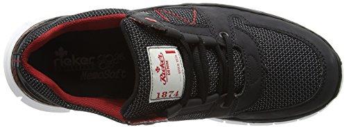 Rieker B4813 Sneakers-men, Baskets Basses homme Noir - Schwarz (schwarz/schwarz / 00)