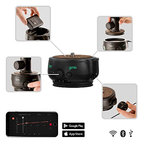 Syrp Genie II Linear Motion Control, Timelapse, Video, Drahtlos, App zur Fernsteuerung, WiFi, USB-Port, Integrierter Joystick, Kameraverschluss-Steuerung/Camera Shutter Control, für DSLR, Video Kamera -