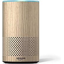 Amazon - Étui décoratif pour Echo - compatible uniquement avec Amazon Echo 2ème génération, finition chêne