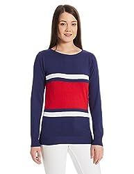 US Polo Association Womens Cotton Sweatshirt (UWFL0125_Twilight Blue_XXL FS)
