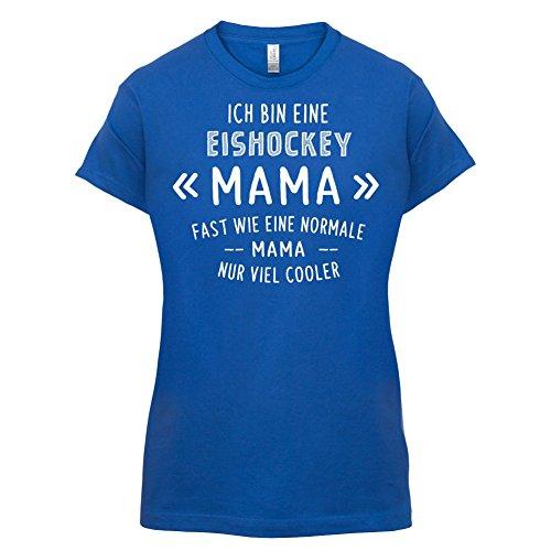 Ich bin eine Eishockey Mama - Damen T-Shirt - 14 Farben Royalblau