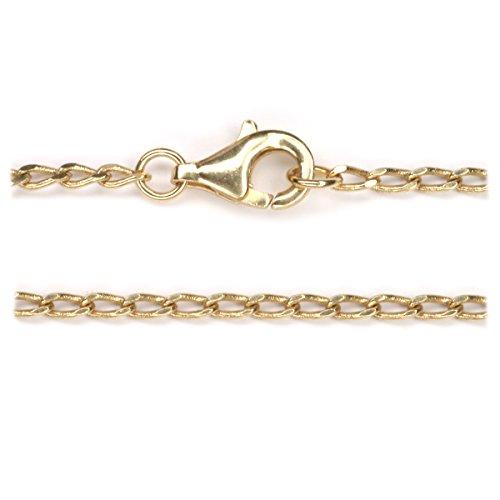 dünne Halskette Bronze 40cm lang, mit hochwertigem Karabinerverschluss - Fantasy-bronze-kronleuchter