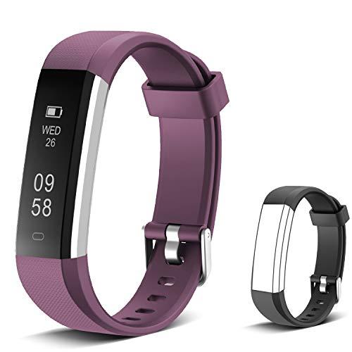 Imagen de muzili pulsera de actividad inteligente fitness tracker reloj deportivo rastreador de actividad con monitor de ritmo cardíaco/contador de pasos/monitor de sueño para niños mujeres y hombres