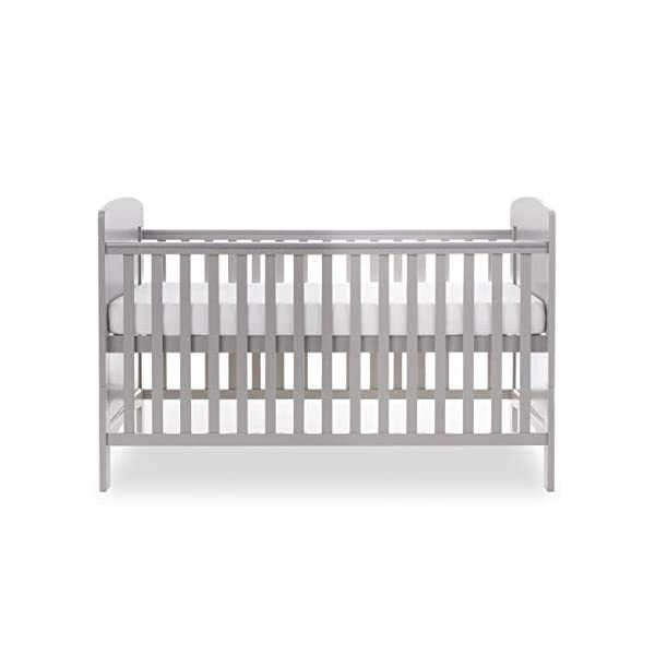 Obaby Grace Cot Bed, Warm Grey Obaby Adjustable 3 position mattress height Bed ends split to transform into toddler bed Protective teething rails along both side rails 3