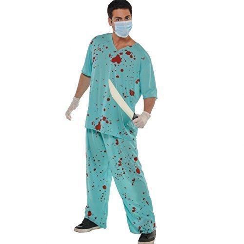 Amscan Adults Bloody Unisex Scrubs Fancy Dress by Missy Moo