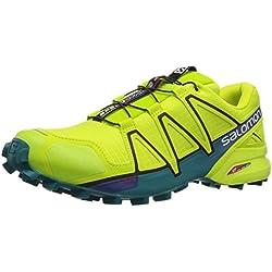 Salomon Speedcross 4 GTX, Zapatillas de Trail Running Hombre, Verde (Acid Lime/Lime Green/Deep Lake), 43 1/3 EU