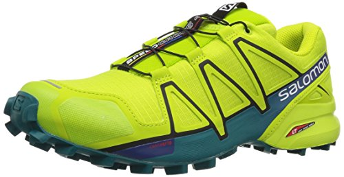 Salomon Speedcross 4, Zapatillas de Trail Running para Hombre, Verde (Acid Lime/Lime Green/Deep Lake 000), 40 2/3 EU