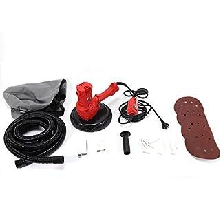 DiLiBee Lijadora de yeso 1280W Lijadora de yeso Lijadora de cuello largo Amoladora de techo con succión + accesorios Ø180mm