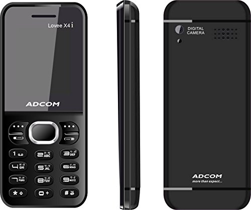 Adcom 4 (Lovee) Dual Sim Mobile ,Black