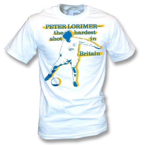 Peter Lorimer - Der härteste Schuss in Großbritannien-T-Shirt Weiß