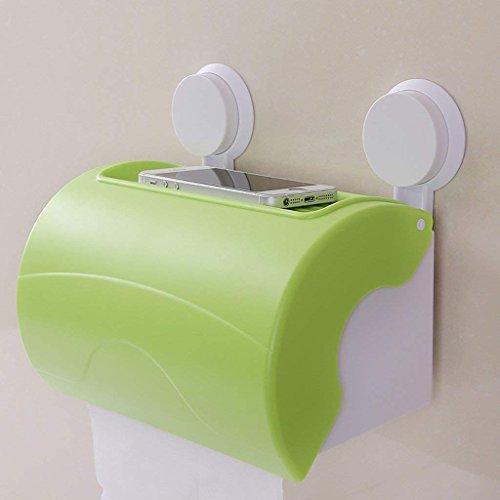 YNG Toilettenpapierständer Papierhandtuchkasten Sucker Toilettenpapier Toiletten Toilettenpapier Toilettenpapier Rollen Toiletten Toiletten Toilettenpapier Fach Papierhandtuchhalter,Grün