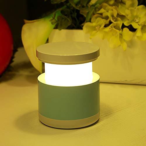 Wangwang454 Kreatives Buntes Einziehbares Licht Führte Nachtlicht Der Neuen Merkwürdigen Kinder Intelligentes Haus Energiesparendes Schlafzimmer 11 * 11 * 9.5Cm Nachttischlampe Blaue USB-Aufladung -