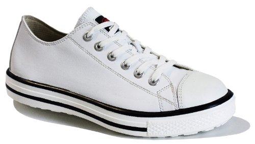 FTG Sicherheitsschuhe Music Swing Low S3 SRC, Sicherheitsschuh Sneaker weiß (45, Weiß) Herren Swing