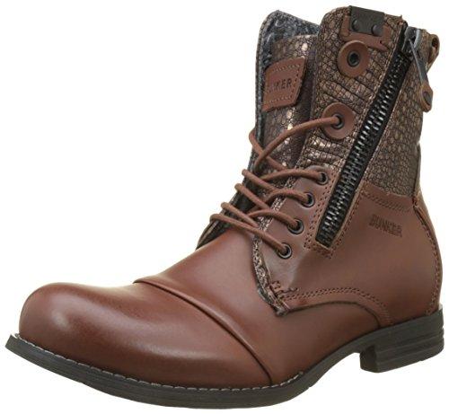BUNKER Herren Por Combat Boots, Braun (Cognac LU4), 40 EU