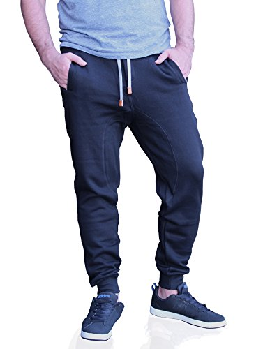Moderne Herren Jogginghose von MZet - einmalig hochqualitative Sweatpants als optimale Lösung für unterwegs und Zuhause schwarz M