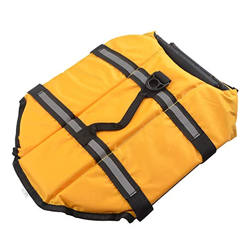 Baoffs Warme Hundepullover Haustier Schwimmweste Schwimmen Jacke Sommer Kleidung Kostüm für kleine Hunde Doggy Bequeme Haustierkleidung (Farbe : Gelb, Größe : S)