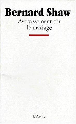 Avertissement sur le mariage