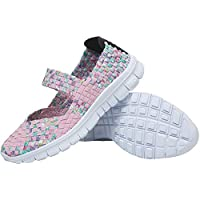 L-Run Zapatillas Mujer Agua Tejidas Ligeras Slip On Sports Shoes Casual