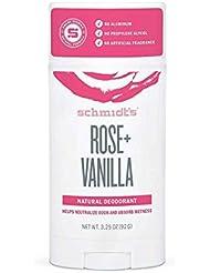 Déodorant Naturel en Stick - Rose Vanille - Schmidt's