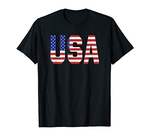 , USA, Patriotisch, 4. Juli, Labor Day T-Shirt ()