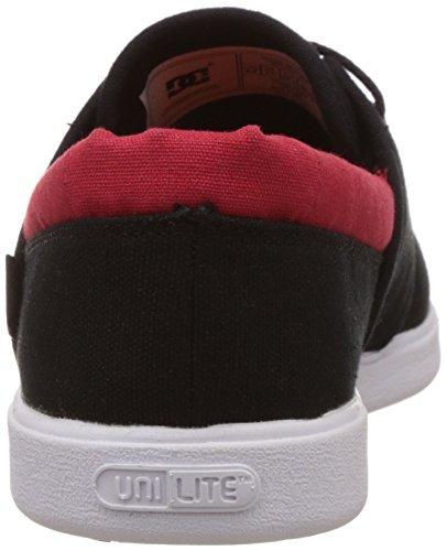 DC Shoes Herren Schuhe Haven, Scarpe da Skateboard Uomo Nero (Schwarz (Black/Red BLR))