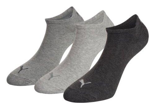 Calcetines de la zapatilla de deporte PUMA o de pareja -6 -9 + Servicio de envío muy rápido por Amazonas 9Paar = anthrazit/melange/grau