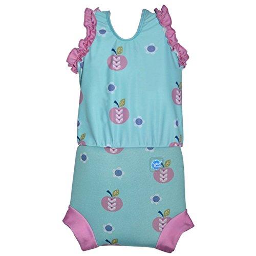 Kostüm Apple Kleinkind - Splash About Baby Mädchen Neopren Nappy-anzug Apple Daisy 3-8 Monate