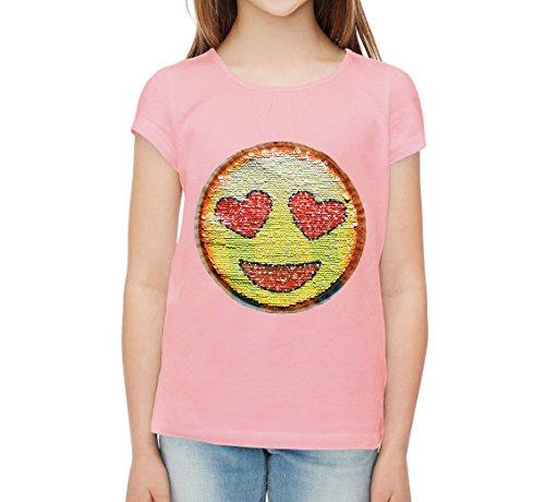 paillettes-emotions-t-shirt-pour-fille-smiley-souriant-love-14-ans-rose