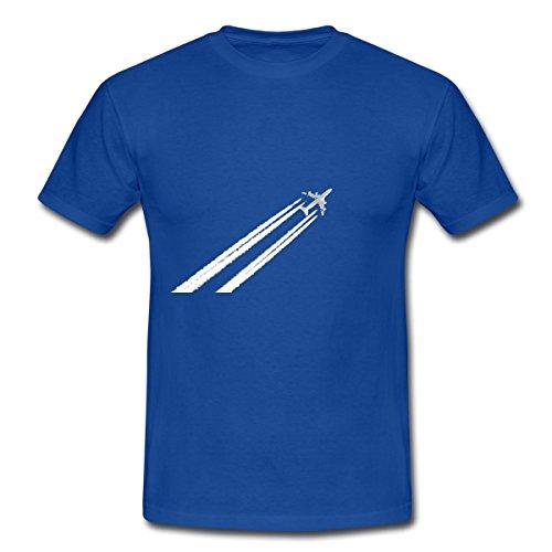 flugzeug-plane-manner-t-shirt-von-spreadshirtr-xxl-royalblau