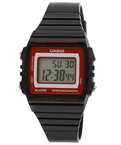 Casio W-215H-1A2VDF (I077) - Reloj para mujeres, correa de goma color negro