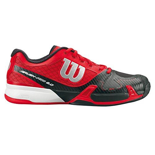 Wilson Unisex-Erwachsene Rush Pro 2.0 Clay Court Turnschuhe Rot / Schwarz / Weiß