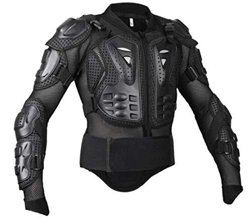 Gratydallks Herren-Motorrad-Rüstung Schutzjacke Schutz Shorts Schutzanzüge black jacket XL