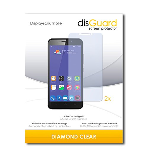 2 x disGuard® Bildschirmschutzfolie ZTE Grand S3 Schutzfolie Folie
