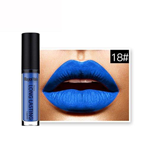 Amlaiworld 18 Couleurs Rouge à lèvres Liquide Gloss Mat - 18#