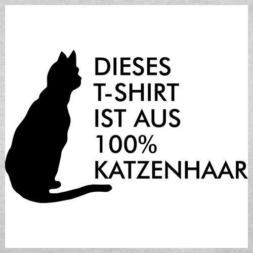DIESES T SHIRT IST AUS 100% KATZENHAAR - Herren T-Shirt - 13 Farben Hellgrau