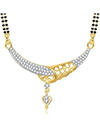V. K. Jewels Cubic Zirconia Mangalsutra for Women (Golden) (vkmp1284g)