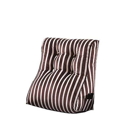 JSFQ Cuscino Triangle Bed Capo Cuscino Tela Staccabile Ufficio Divano Borsa Morbida Grande Cuscino (Size, 55X60cm), C, 45x55cm (Color : B, Size : 55X60cm)