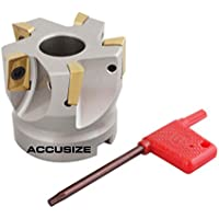 accusize–5,1cm X 3/10,2cm 90°. Quadratische flaschenschulter indexable Face Mühle w/APKT1604Fügt, 4508–0012