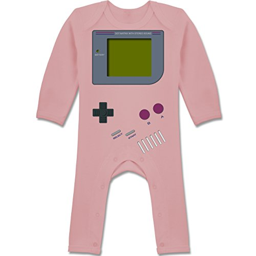 Shirtracer Strampler Motive - Gameboy - 3-6 Monate - Babyrosa - BZ13 - Baby-Body Langarm für Jungen und Mädchen