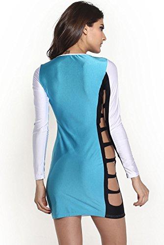 E-Girl femme Bleu SY21064 robe de cocktail Bleu