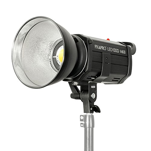 Great Buy for PIXAPRO® LED100D MKII Three Head Kit Daylight LED Continuous Studio Video Interview Film Light Bowens S-Type Fit Remote Dimmable Video Continuous Constant Light Green Screen Film Marketing Movie Lighting Still Life Portrait (Improved Colour) CRI>94 *2 Year UK Warranty *Fast Delivery *UK Stock *VAT Registered (Three Head Kit, Standard) Review