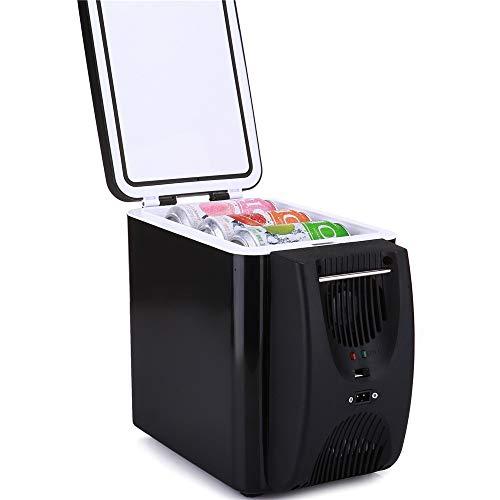 Tragbare elektrische Kühlbox Auto Kühlung und Erwärmung Mini-Kühlschrank 6L Thermoelektrisches System Mit AC / DC-Adapter Für Reisen, Picknick, Camping, Heim und Büro für Reisen und Camping -