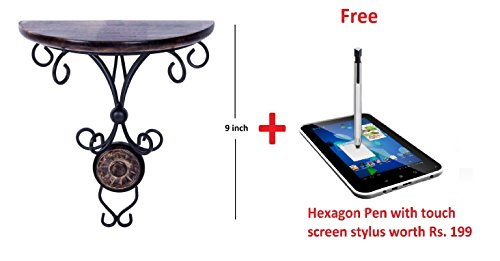 Crafts'man (Heavy Iron)Beautiful wood & wrought iron Fancy wall bracket/shelve for Living room decoration