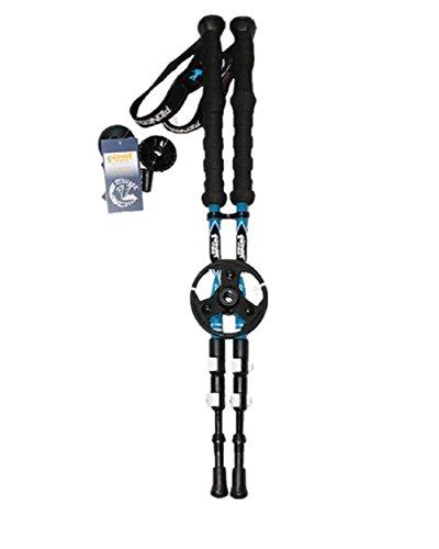 152/5000 Wandern Stick Carbon Fiber EVA Griff 3 Sektion Verstellbare Trekking Pole Leichte Ski Pole Quick Lock Natürliche Stoßdämpfer Walking Stick Alpenstock , 2PC