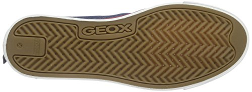 Geox Jr Ciak E, Baskets Basses Fille Blau (JEANSC4001)