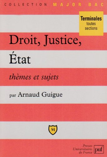 Droit, justice, Etat : Thèmes et sujets